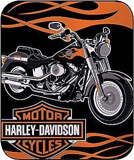 Harley Davidson Fat Boy Plush Super Plush Throw Blanket Twin 60