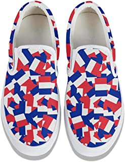 Fashion Mens Canada Flags Canvas Sneakers Wide Walking Shoes Latest Casual Shoes
