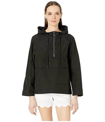Kate Spade New York Athleisure Nylon Scallop Anorak (Black) Women