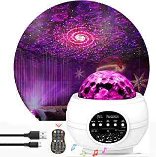 Star Night Light Projector Bedroom,Nakalus Nebula Projector LED Ocean Wave Starry Projector Light with Bluetooth Hi-Fi Ste...