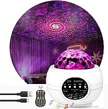 Star Night Light Projector Bedroom,Nakalus Nebula Projector LED Ocean Wave Starry Projector Light with Bluetooth Hi-Fi Ste...