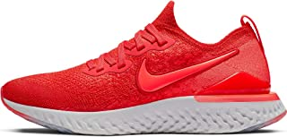 Kids' Grade School Epic React Flyknit 2 Running Shoes (7, Red/White)