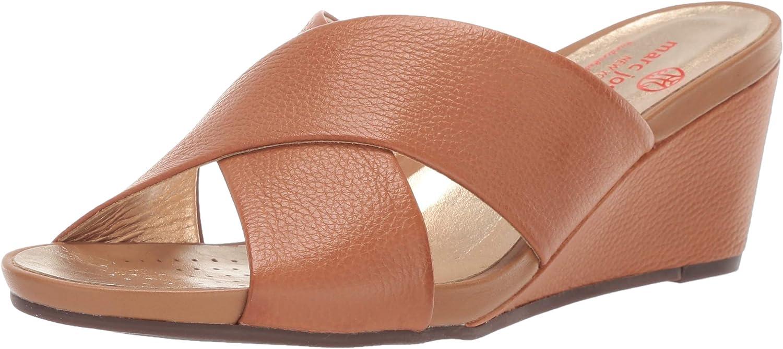 MARC JOSEPH NEW YORK Womens Womens Genuine Leather Made in Brazil Sandal Wedge Sandal