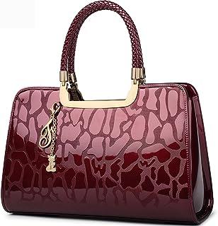 FOXER Women Handbag Leather Purse Top Handle Patent Leather Tote Shoulder  Bag Clearance Sale d6c83d8e87569