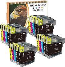 Cartuchos de impresoras para Brother DCP J125, j140W, J315W, J515W, MFC-J220, J265W, J410, J415W, equivalente a LC985LC39lc975LC985, color 20er Set (B/C/M/Y)