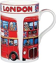 British London Double Decker Bus Fine Bone China Cedar Mug
