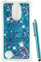 CAIYUNL Case for LG K20 V Case, LG K20 Plus Case Glitter, LG Harmony Case, LG Grace Case,LG LV5 Case Liquid Sparkle Bling Girl Women Men Clear TPU Protective Cute Shockproof Cover for LG K10 2017-Blue
