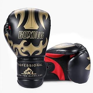 Aramox Mezza Finger Guantoni da Combattimento Taekwondo Sparring Grappling Fight Boxe Training Gym Gear Guanti in Pelle Guanti di Protezione per Donna Uomo Bambini