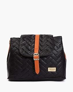 Nelle Harper PU Leather Latest Fashion Handbags for Women's (Black)