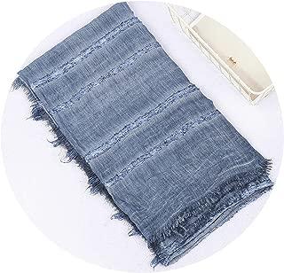 Winter Scarf long women's scarves Cotton Denim Blue Solider Color shawl fashion winter warm men scarf