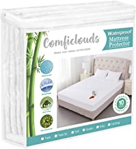 Queen Size Cooling Hypoallergenic Waterproof Mattress Protector Pad Cover,Bamboo Terry Top Breathable Fitted Sheet Style D...