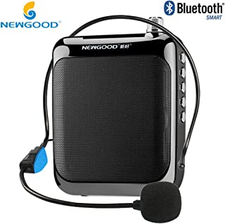 NEWGOOD Classroom Teachers Professional Personal Wired Voice Amplifiers Headset Microphone for Coach Training,Yoga,School Classroom Presentation,Tour Guide System (Black)