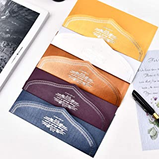 FagusHome Invitation Envelopes Business Envelopes 50 Pcs Gift Card Mini Envelopes 5 Colors 3.27