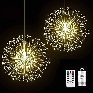 Decem Firework Lights, 2 Pack 198 LED Dadelion Shape Fairy String Lights Battery Operated Twinkle Starburst DIY Lights wit...