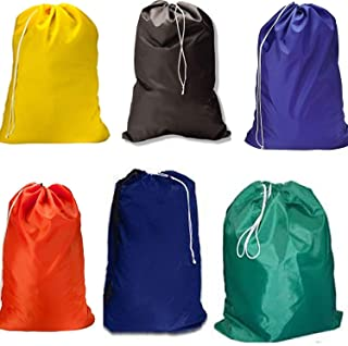 Heavy Duty Large Laundry Bag, -Sturdy Fabric May Vary with Drawstring Closure. Ideal Machine Washable Laundry Bags for Col...