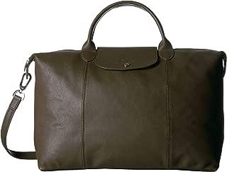 Longchamp Le Pliage Cuir Top-Handle Bag Large Khaki One Size
