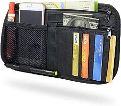 Livans Car Sun Visor Organizer, Auto CD Holder Vehicle Sunglass Storage Pouch Interior 4 Credit Car Holder Accessories Document Car, Truck, SUV Registration