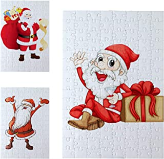 10 Sets Blank Sublimation A5 Jigsaw Puzzle with 48 Pieces DIY Heat Press Transfer Crafts A5 Thermal Transfer Puzzle Wholes...