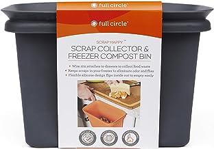 Full Circle Scrap Happy Food Scrap Collector and Freezer Compost Bin, Slate