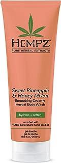 Hempz Sweet Pineapple & Honey Melon Creamy Herbal Body Wash, 8.5 Ounce