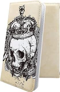 MADOSMA Q601 ケース 手帳型 骸骨 骨 ロック ギター スカル ドクロ マドスマ 手帳型ケース かっこいい madosmaq601 ユニーク おもしろ おもしろケース