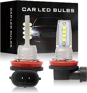 GZCRDZ 1 Pair H4 H7 H8 H11 9005 24W 3535 8LED Fog Light Bulbs Car Driving Lamp DRL 6500K HID White 2000LM (H8 H11)