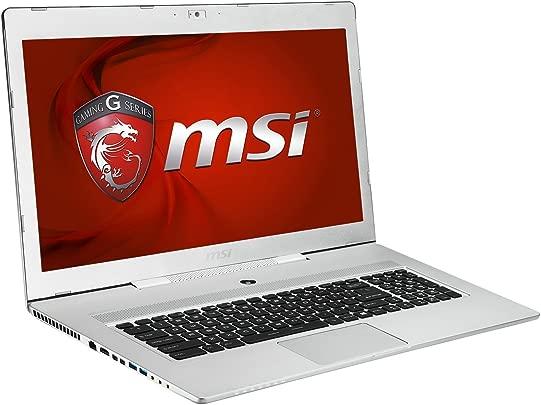 MSI 001773-SKU12 43 9 cm 17 3 Zoll Laptop Intel Core i7 4720HQ 3 6GHz 16GB RAM 512GB SSD Win 8 1 silber Schätzpreis : 760,00 €
