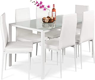Amazon Com 7 Pieces Table Chair Sets Kitchen Dining Room