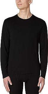 Amazon Brand - HIKARO Men's Long Sleeve Crew Neck 100% Merino Wool Sweatshirt Baselayer Quick Dry Lightweight Thermal Unde...