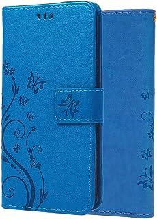 Capa C-Super Mall-UK para iPhone 12 Pro, capa para iPhone 12, capa carteira em relevo borboleta com suporte e capa flip pa...