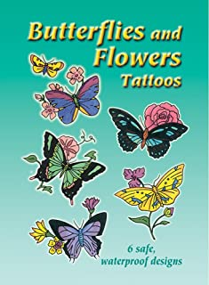 Dover Books Butterflies And Flowers Tattoos