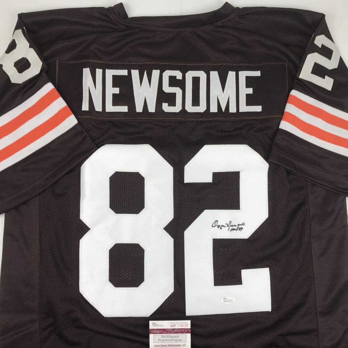 Autographed Signed Ozzie Newsome HOF 通常便なら送料無料 Brown Football Cleveland 爆安プライス 99