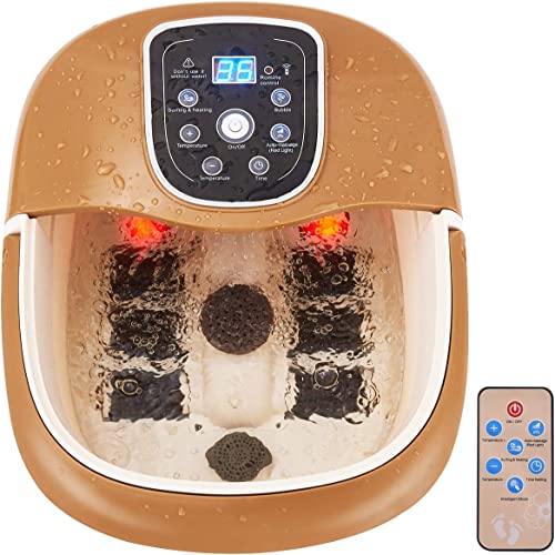 new arrival Giantex All in One Foot Spa Bath Massager w/Heating & Surfing, 6 Motorized Maize Roller, Bubbles Jets &Vibration wholesale Water Fall, Deep Foot Bath Massager 2021 w/Remote Controller, Digital Time Temper Set outlet sale