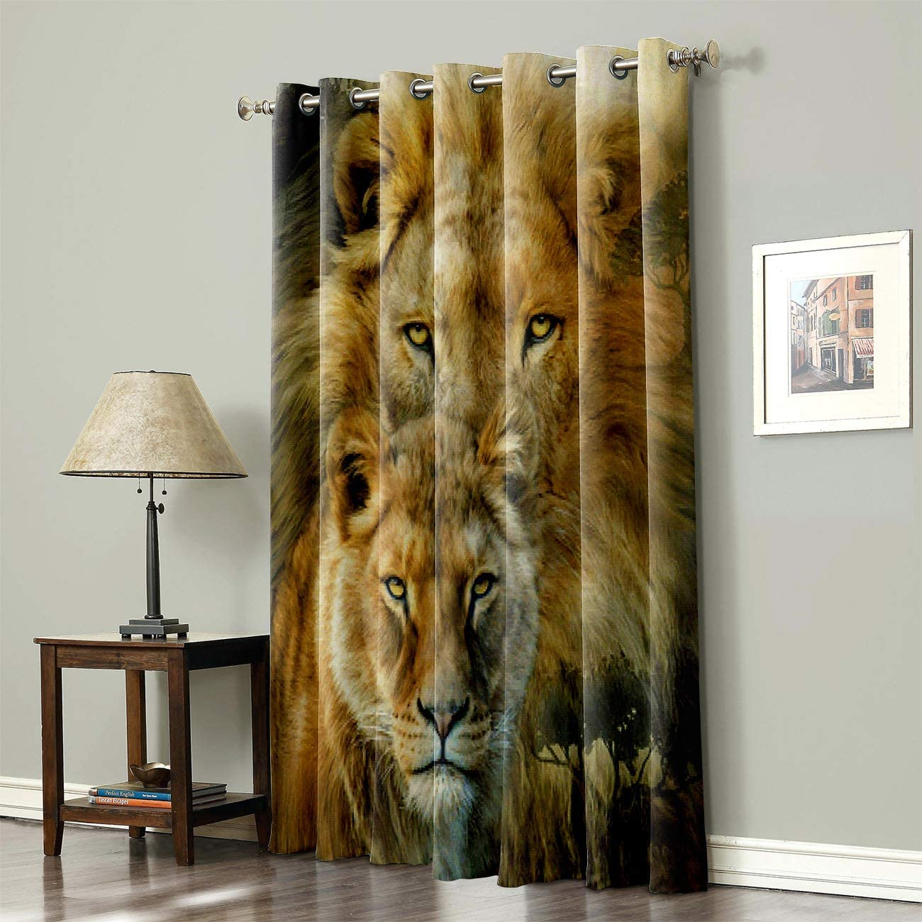 人気 SODIKA Grommet Top Curtains for 店舗 Treat Bedroom Living Room Window