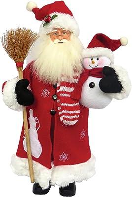 "Santa's Workshop 6405 Snowy Morning Santa Figurine, 15"", Multi"