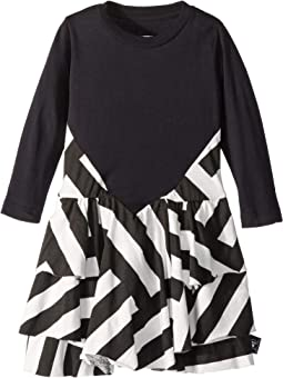 Striped Layered Dress (Infant/Toddler/Little Kids)