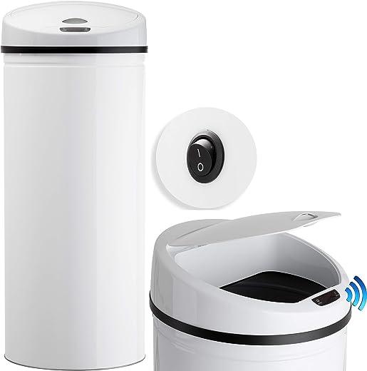 KESSER® Sensor Mülleimer ✓ Automatik ✓ Abfalleimer ✓ Abfall   Edelstahl   Farbe: WEIß   Größe: 30 L