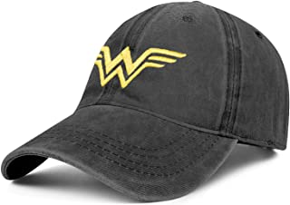 Sponsored Ad - Unisex Adjustable Wonder-Woman-Hero-Logo Hat Dad Hat Washed Baseball Cap Denim Hat - One Size Fits All