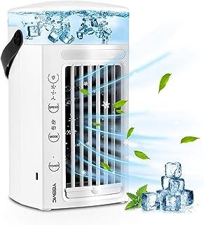 YISSVIC Condizionatore D'aria Portatile, 4 in 1 Air Cooler Umidificatore Purificatore con 7 Colori e 3 velocità per scriva...