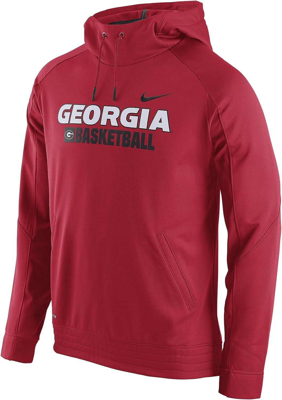 Nike Men& 39;s Georgia Bulldogs Elite Stripe Basketball HoodieRed BlackMedium