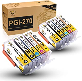 CMYBabee Compatible Ink Cartridge Replacement for Canon PGI-270XL CLI-271XL PGI 270 XL CLI 271XL for PIXMA MG6820 MG5720 MG6821 MG5722 TS9020 Printer (2PB,2BK,2C,2Y,2M,10-Pack)