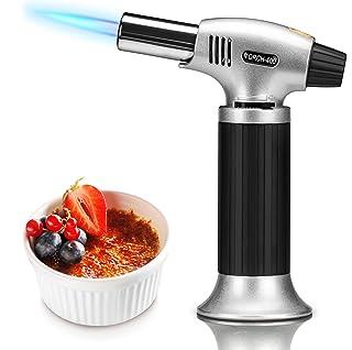HENMI Torche de Cuisine, Verrou de sécurité et Flamme Ajustable Brûleur, Briquet pour la Cuisine, crème, Brulee, pâtisseri...