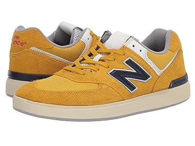 New Balance Numeric AM574 (Golden/Navy) Men