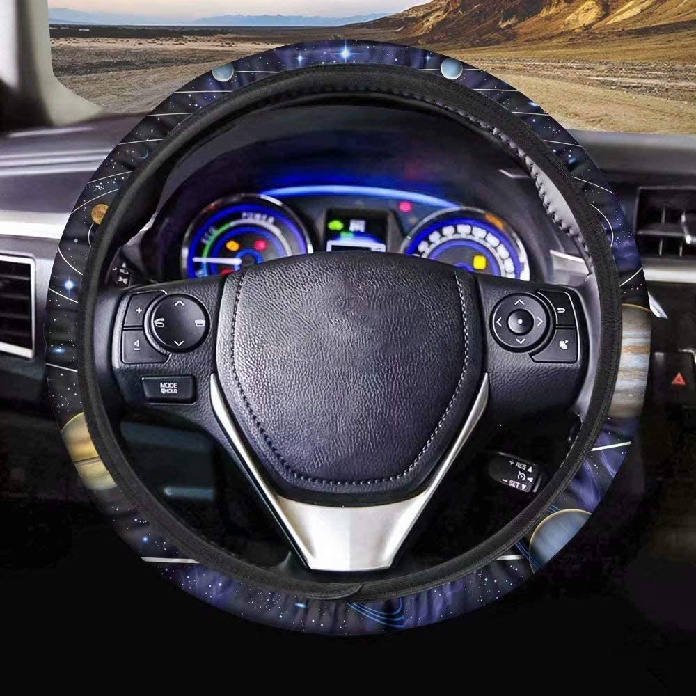 Horeset Dinosaurs Vehicle Steering Wheel Cover Print Cute Rex Car Steering Wheel Cover for Women Automotive Accessories Universal fit Cars