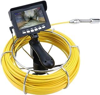 HBHYQ Cámara de Video de inspección de tubería Industrial de 10 m de Mano, Tarjeta de 16GB TF DVR IPR IPR68 Drenaje DE Aut...