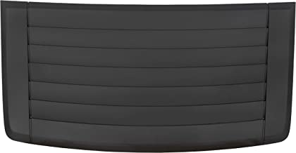 ECOTRIC Louver Hood Air Vent Grille Panel Gray Compatible with 2006-2010 Hummer H3