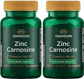 Swanson Zinc Carnosine (Pepzin Gi) 60 Capsules 2 Pack