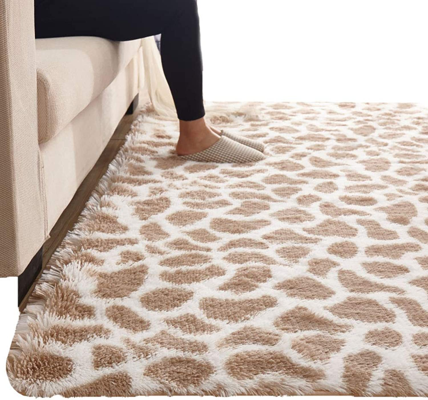 Royare Home Decorations mat Rugs Rectangular Carpets Plush Fluffy Cleanable Bedroom Bedside Bed Front Living Room Coffee Table Area (Size   0.8x2m) (Size   1x2m)