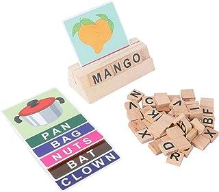 Toddmomy Spellingspellen Houten Bijpassende Letters Speelgoed Met Woorden Flash Kaarten Montessori Voorschoolse Stam Educa...
