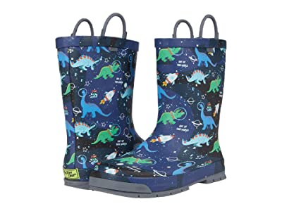 Western Chief Kids Space Dinos Rain Boots (Toddler/Little Kid/Big Kid) (Navy) Boys Shoes